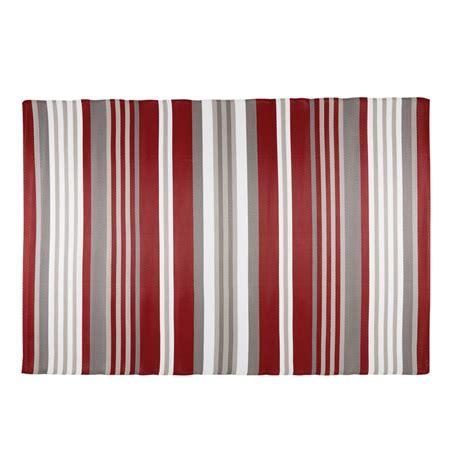 tappeti a righe tappeto da giardino in tessuto a righe rosse e bianche