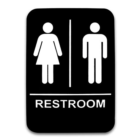 men and women bathroom sign co rect products 6 x 9 men and women restroom sign