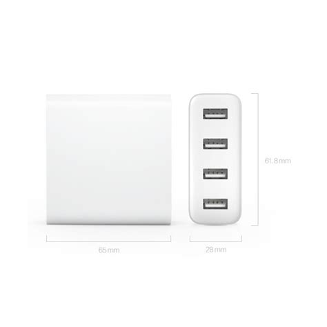 Xiaomi Charger Usb 4 Port 2a White Putih 4 xiaomi 4 ports usb 2a charger safeguards built in design