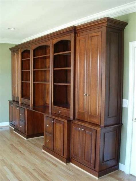 Mahogany Office Built In Furniture Traditional Home Home Office Built In Furniture