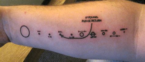 mathematical tattoos yeah math and science tattoos pioneer plaque via