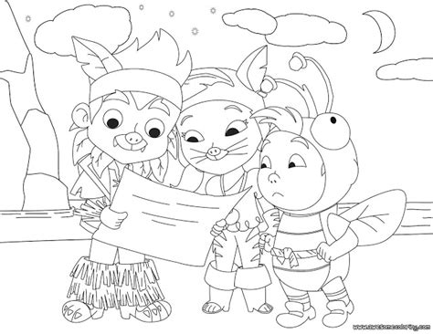 disney coloring pages jake and the neverland pirates coloring pages of jake and the neverland pirates