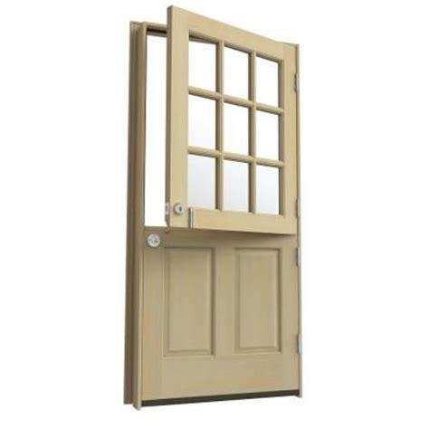 Home Depot Front Doors Wood 36 In X 80 In 9 Lite Unfinished Hemlock Wood Prehung Front Door With Brickmould Home