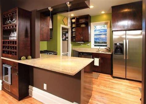 Dark Kitchen Cabinets birch cabinets stained dark walnut with light wood floors