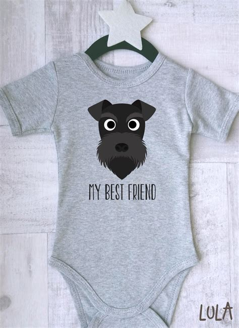 puppies in baby clothes schnauzer baby clothes baby best friend print