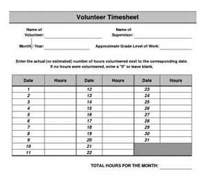 volunteer schedule template excel 11 volunteer timesheet templates free sle exle