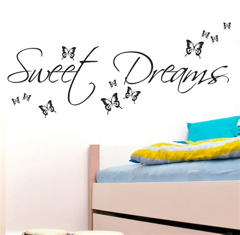 Bedroom Wall Quote Stickers Uk Sweet Dreams Wall Sticker Decals Quotes Bedroom W43 Ebay