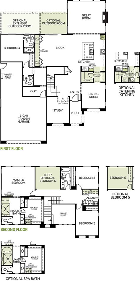 waterford residence floor plan new 4 to 5 bedroom homes for sale in ontario ca model 2