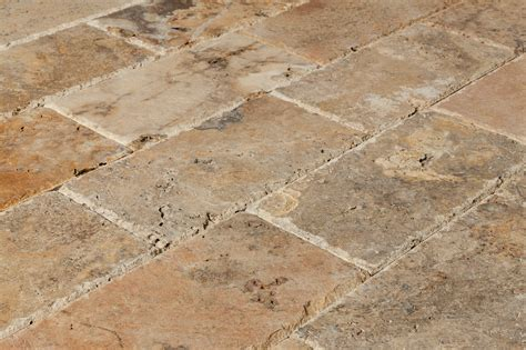 travertine patio pavers tuscany scabos chipped 6x12 paver angle