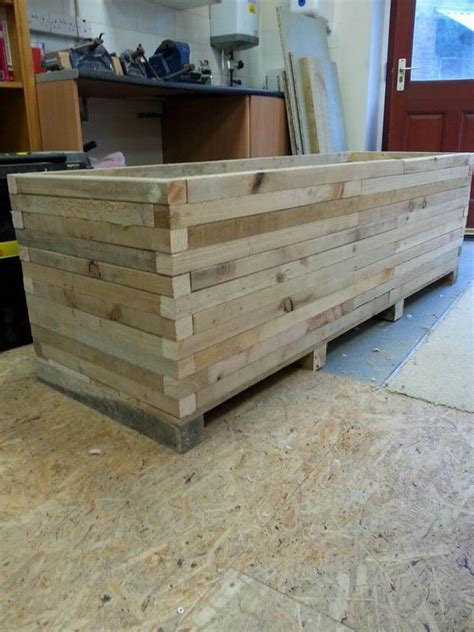 diy pallet large garden planter 99 pallets