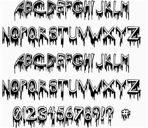 font design horror scary fonts fonts fonts and scary fonts at kludgymom 15
