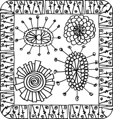 coloring pages intricate flowers intricate plant coloring pages