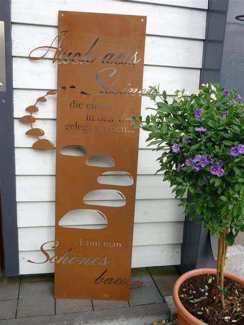 Shop Garten by Spruchtafel Steiniger Weg Garten Schild Metall Rost Deko