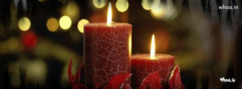 merry christmas red candle fb cover