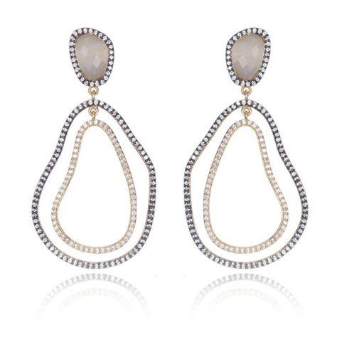 Marcia Moran Mixmetal Chandelier Earrings Hauteheadquarters Marcia Chandelier Earrings