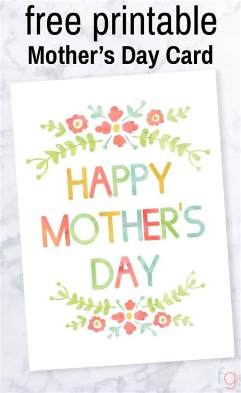 Mothers Day Cards Printable Free