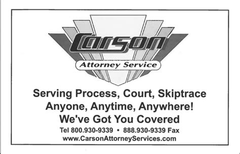 united process service carson attorney services process servers 1630 n main