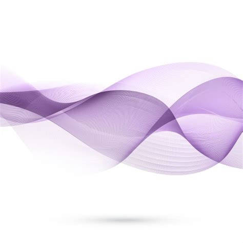 Purple Abstract Background With Floating Wavy Shapes Free Purple Wavy Powerpoint Template