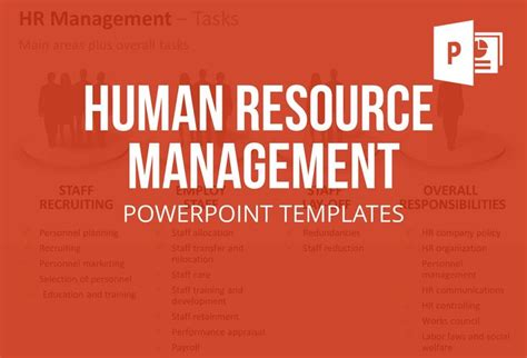 the human resource management powerpoint template set