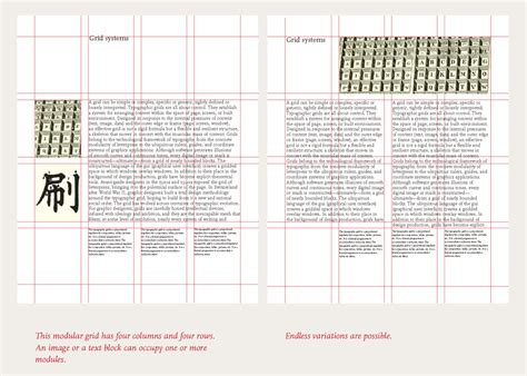 graphic design layout types different types of grids environment spread kyle bryce