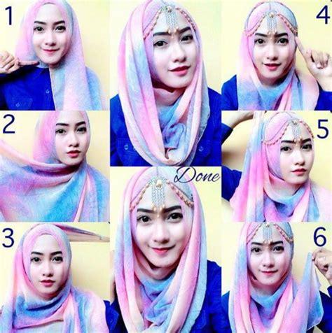 tutorial kerudung ke pesta contoh tutorial hijab elegan untuk pesta terbaru 2016