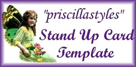 stand up card template color with quot priscillastyles quot quot thinking inside the