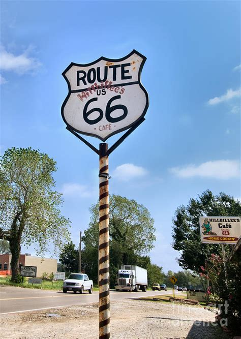 Arcadia Home Decor by Route 66 Road Sign Photograph By Betty Larue
