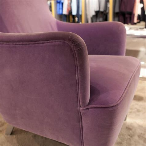lila stuhl 21st century modern wingback chairs by tom dixon in violet