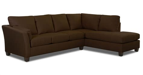chocolate sectionals klaussner drew sectional sofa microsuede chocolate kl
