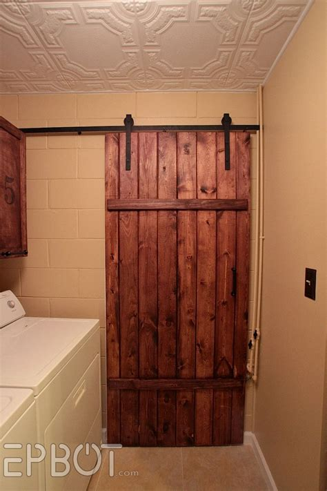 Sliding Barn Door Hardware Cheap Epbot Make Your Own Sliding Barn Door For Cheap Home 2013 Sliding