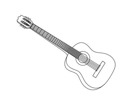 imagenes de guitarras blanco y negro dibujo de una guitarra espa 241 ola para colorear dibujos net