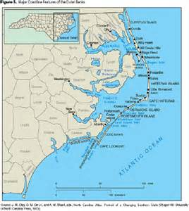 map of carolina coast of beaches rivers and lakes