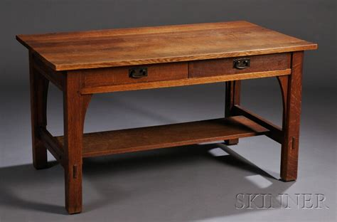 Library Table L l j g stickley library table sale number 2626b lot number 230 skinner auctioneers