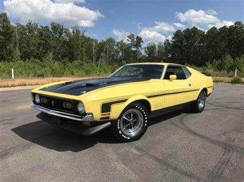 1971 mustang boss 351 4speed 33k miles rotisserie restored window sticker marti for sale ford