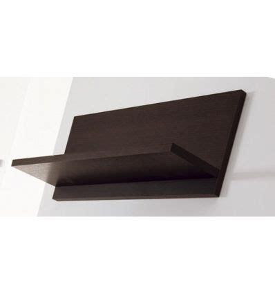 mensola wenge mensola tibor60 a muro 60 cm in legno wenge bianco arancio