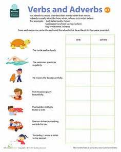 Worksheets all about adverbs verbs and adverbs 1