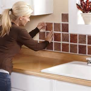 Self Stick Kitchen Backsplash Tiles by Self Stick Backsplash Tiles From Home At Five 174 47844