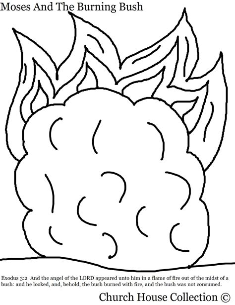 burning house coloring page moses and the burning bush coloring pages