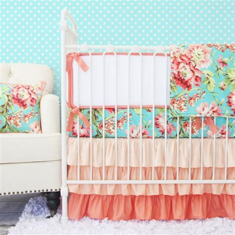 Coral Nursery Bedding Sets Coral Camila Crib Bedding Set By Caden Rosenberryrooms