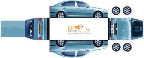Papercraft Cars - 2004 skoda octavia ii biler free paper