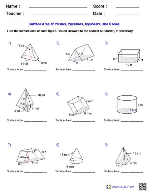 printable math worksheets volume cone pinterest the world s catalog of ideas