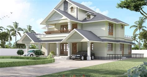 double floor kerala house design with interior photos