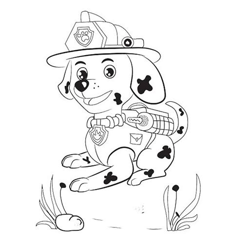 coloring page of marshall from paw patrol paw patrol coloring pages marshall www imgkid com the