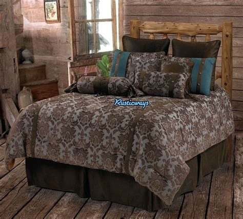 western bed sets western rustic country fleur de lis comforter set