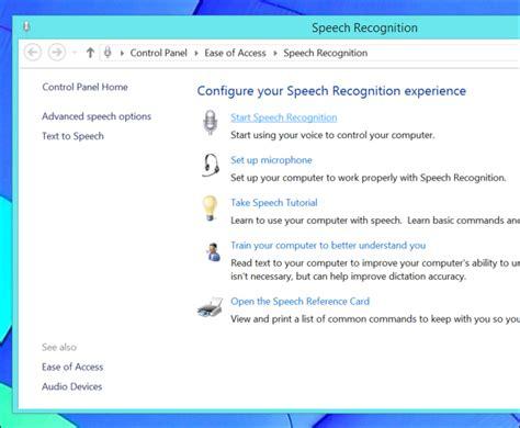 windows 10 speech recognition tutorial voice recognition commands windows vista vue con 2017
