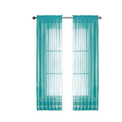 turquoise curtain rod window elements diamond sheer turquoise rod pocket extra