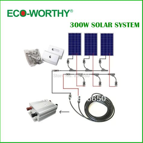 home solar system kit complete kit 300w solar panel cells grid system home