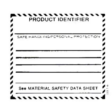Whmis Workplace Label Template whmis supplier label