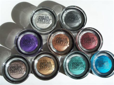 maybelline color tattoo cream eyeshadow review maybelline eye studio color tattoo 24hr cream gel eye