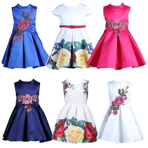 2018 samgami baby girl dress floral pattern a line princess dress girls european baby dress